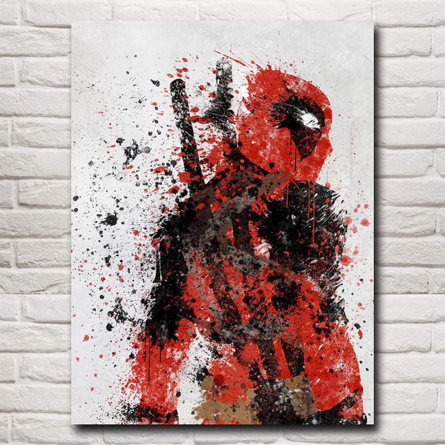 Deadpool Wade Wilson USA Superheroes Comic Movie Art Silk Poster Print Home Decor Painting 12×16 18X24 24×32 Inch Free Shipping