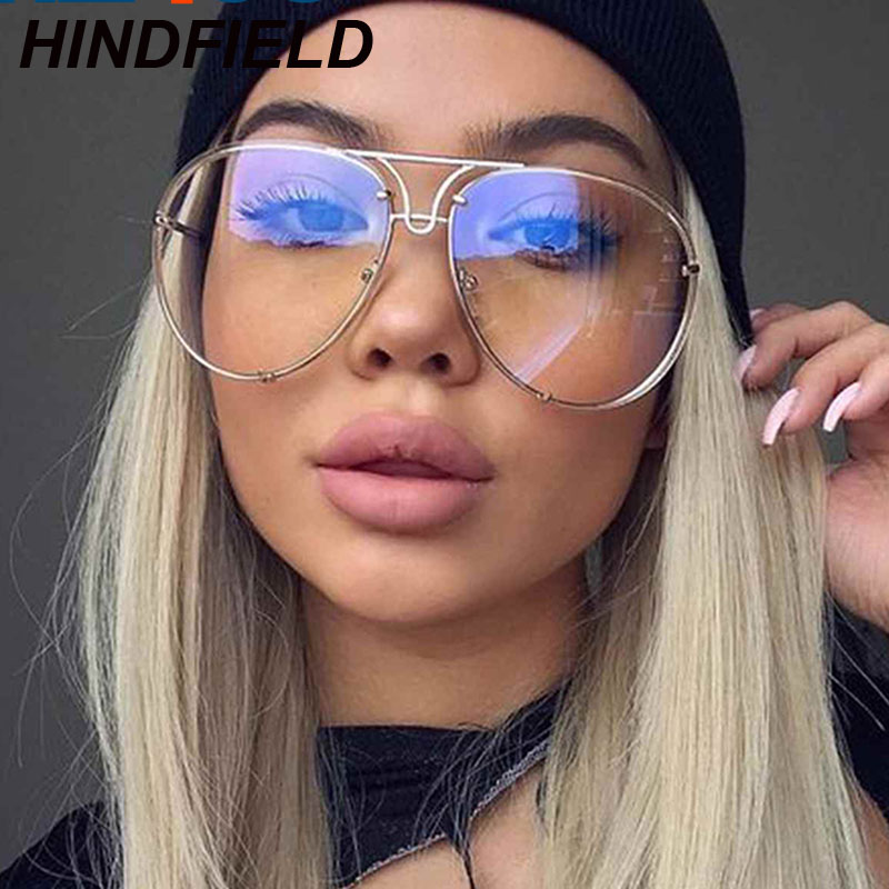 2017 Clear Glasses Women Optics Eyeglasses Frames Big Oversize ...