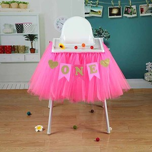 Glitter One banner Pennant High Chair Baby Shower kids boys girls First Birthday Party Highchair Decoration Favor pink blue(China)