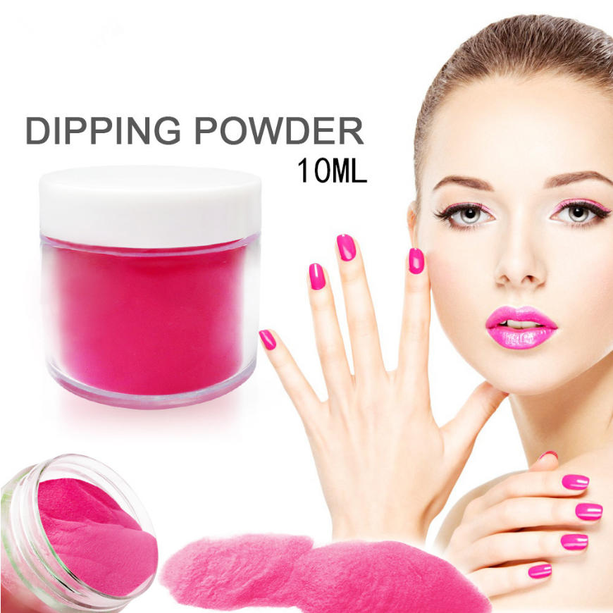 10g/Box Dipping Powder Without Lamp Cure Nails Dip Powder Gel Nail Color Powder Natural Dry Colors #1-#8