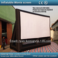 Envío libre pequeño inflable pantalla de cine 16:9 pantalla de proyección inflable pantalla de cine inflable