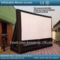 Frete grátis pequeno 16:9 tela de projeção inflável tela de cinema inflável tela de cinema inflável