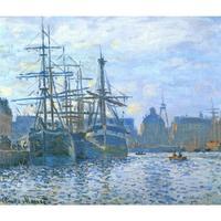 Große wand landschaft bilder Die Havre der handel bassin Claude Monet ölgemälde auf leinwand moderne wohnkultur