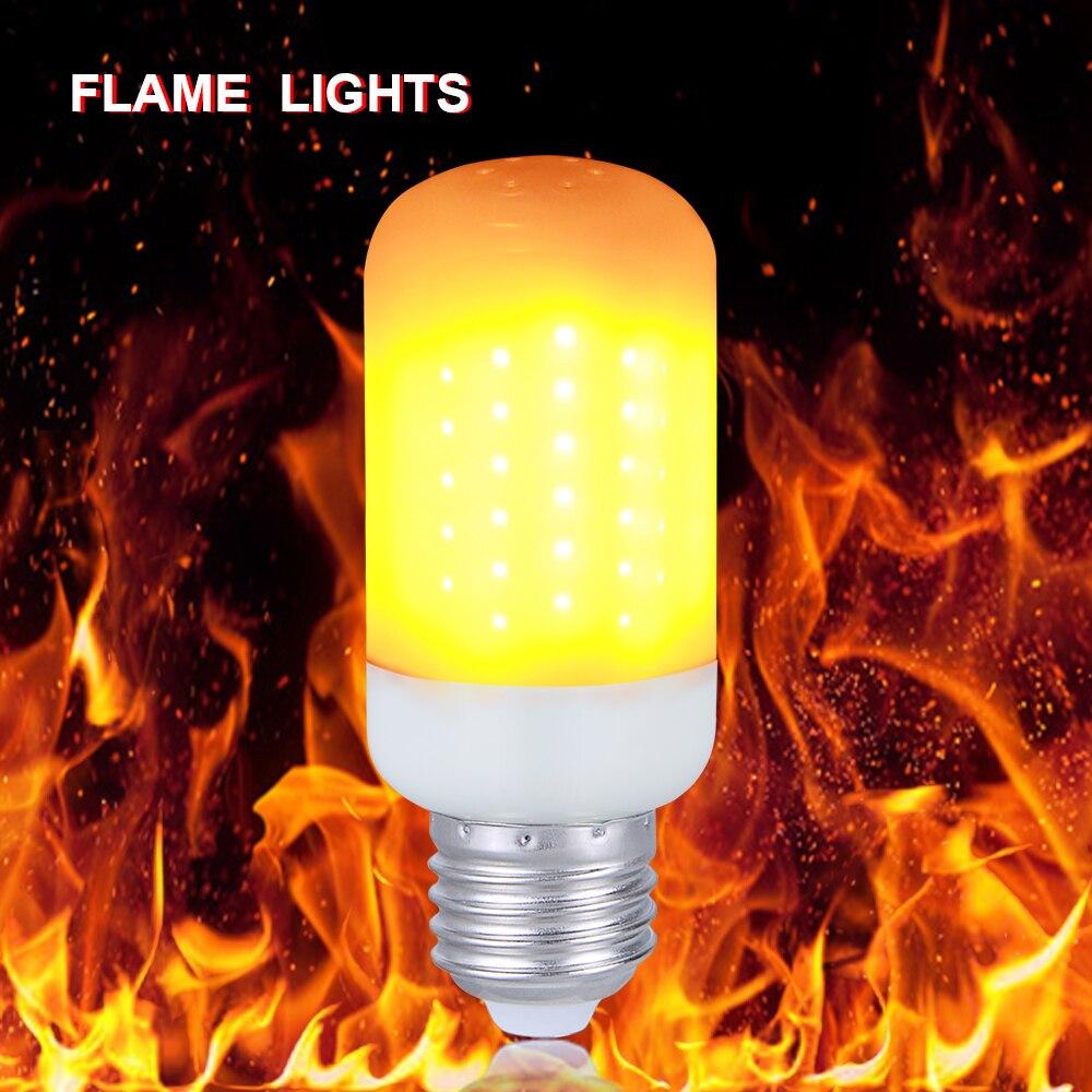 E27 E14 Led Flame Lamp Fire Effect Bulb B22 E26 E12 220v