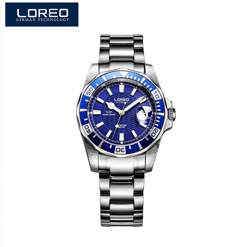 LOREO Reloj Cronografo Hombre Men Watches Classic Stainless Steel Automatic Self Wind Mechanical Watches Relogio Masculino A48 стоимость