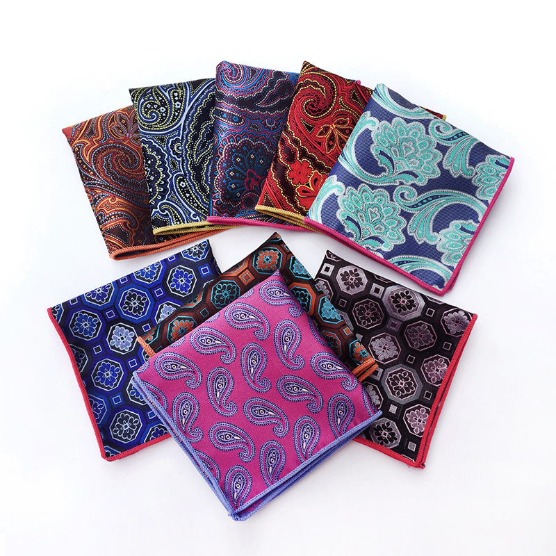 Men Hankerchief Square Upscale  Fashion Handkerchief Towel For Accessories Formal Novelty Geometric Pocket Pocket Towel
