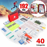 Mini Outdoor First Aid Kit 40 categories 192Pcs Portable EMergency Kits Travel Package For Medicines Camping Medical Bag
