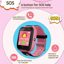 V6 SOS Waterproof Phone Watch Smart kids Baby WatchesTracker Camera Anti Lost Monitor For ios And Android Children Watch 2018