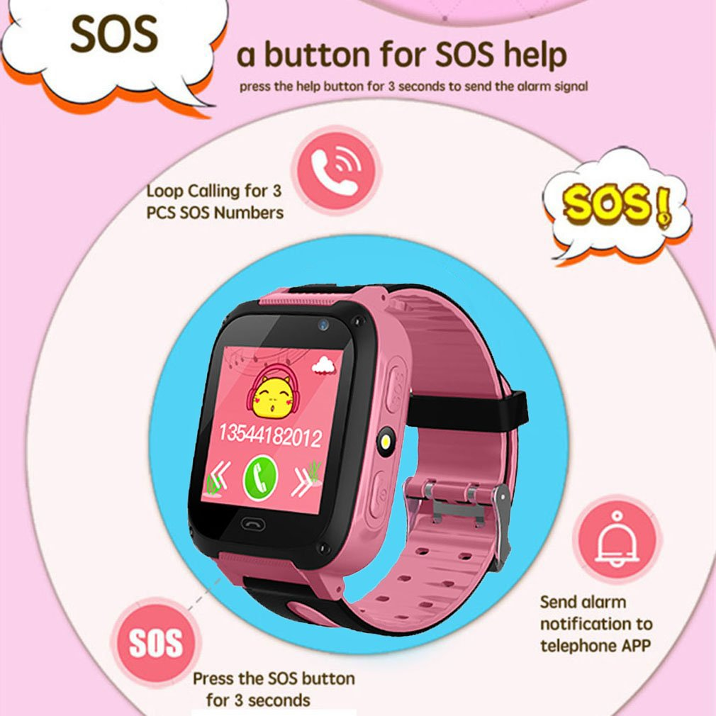 V6 SOS Waterproof Phone Watch font b Smart b font kids Baby WatchesTracker Camera Anti Lost