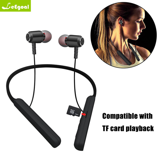56830e899ab New Fashion Sport MS-T17 Wireless Bluetooth Headset TF Card Stereo  Bluetooth Headset Hanging Neck Earphone For MP3