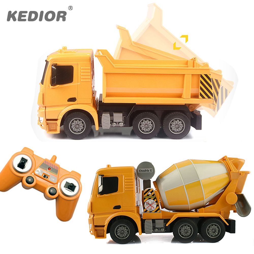 Rc truck big dump truck electric engineering machine radio controlled construction rc tanker cement mixer toy