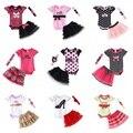 Conjunto de Roupas de Bebê Roupas de Menina de varejo Do Bebê 3 pcs Conjuntos Romper + Saia Tutu + Headband do 3 pcs Define Polka-dot Princesa Tutu vestido