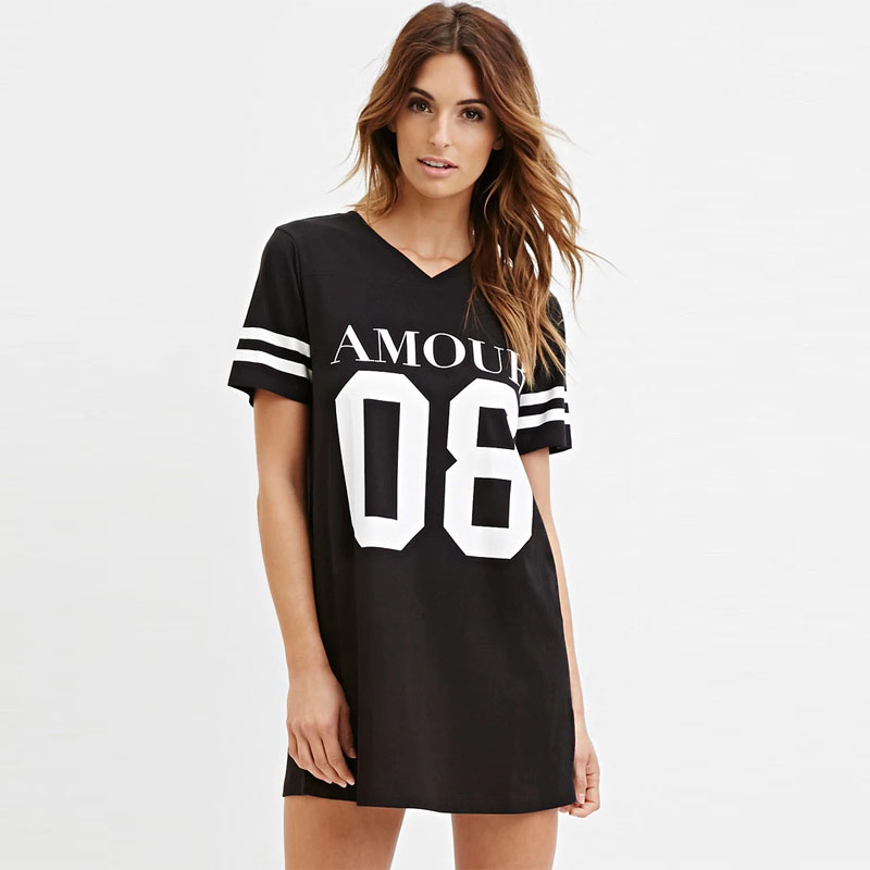 Summer style women t shirt celebrity number 08 letter for Celebrity t shirts wholesale