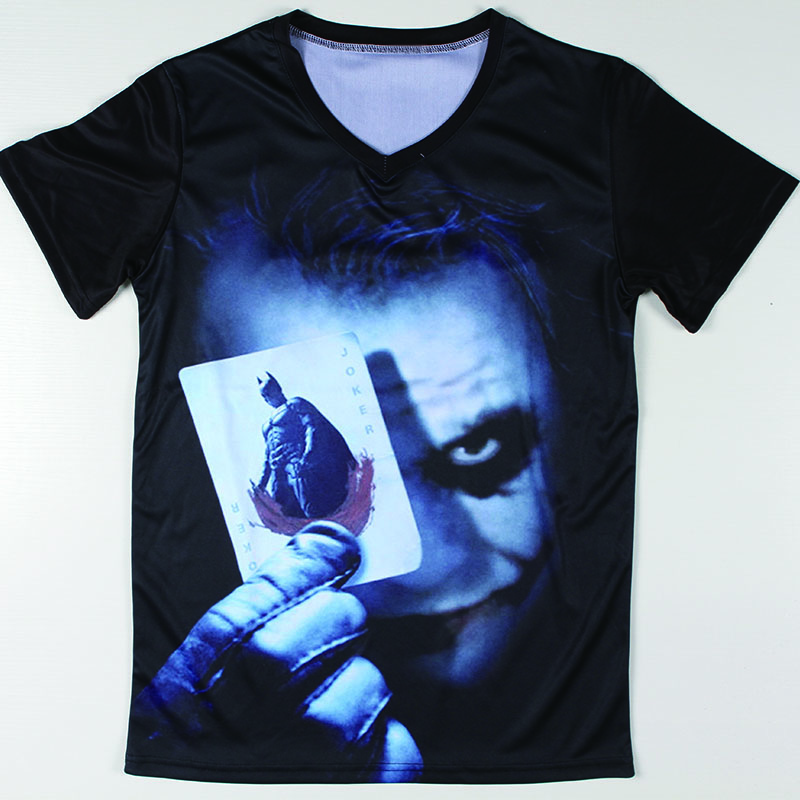 Cool graphic design batman joker t shirts short sleeve men Cool design t shirt
