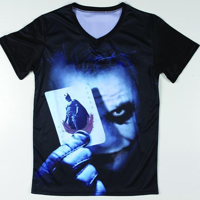 97380bf4283 Cool Graphic Design Batman Joker T Shirts Short Sleeve Men Breaking Bad t- shirts V Neck Tee Shirt Male Casual Style S-XXL