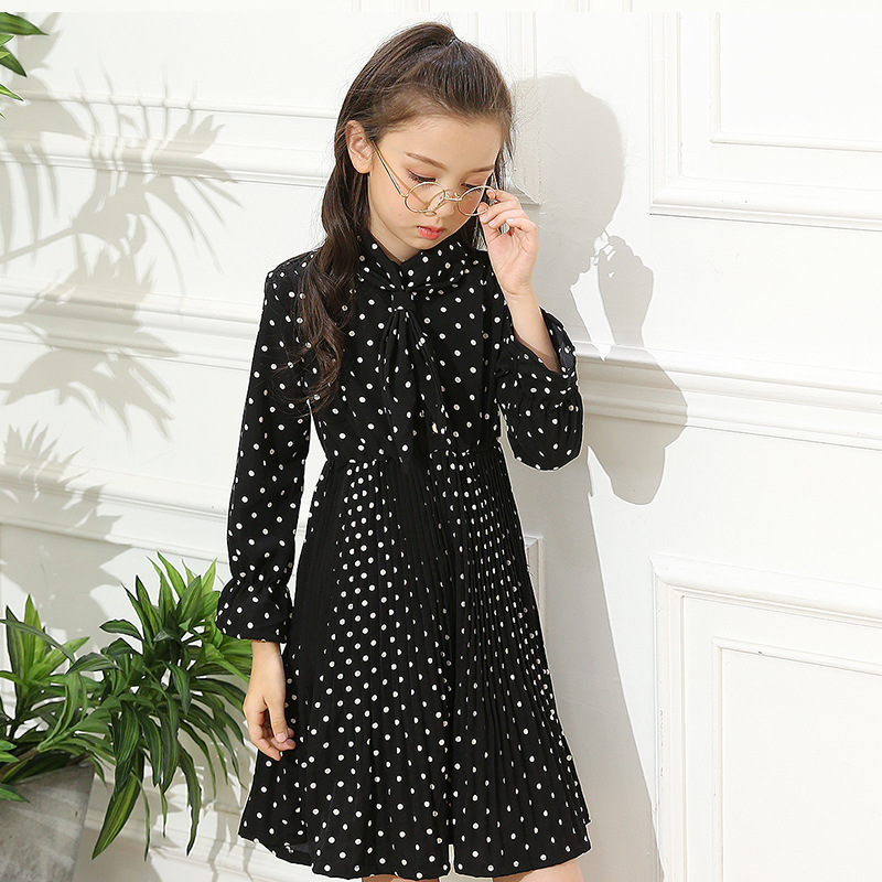 2017 spring autumn girls clothing infant kids evening costume black pink big baby girl party princess dresses children cute autumn girl dress children s clothing new spring children baby princess wool dresses big girls party long sleeve pretty outfits