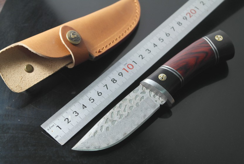 High quality Damascus steel forged straight knife hunting high hardness outdoor self-defense knife tactical army Survival knife цены онлайн
