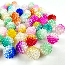 HL 20/50/100PCS 12MM Colorful ABS Loose Beads Jewelry DIY Accessories Crafts