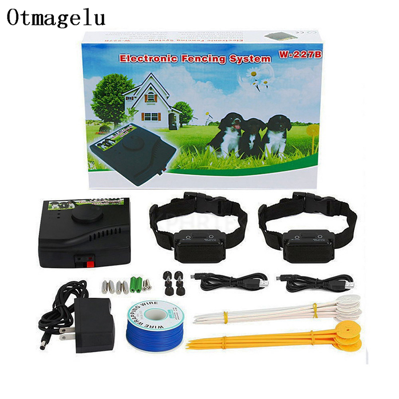 Pet Fence In-Ground Electric Dog Fence Rechargeable Electric Dog Training Collar Receivers Pet Containment System W-227B For Dog(China)