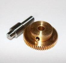 0.5M-40T Gear Diameter:21.2mm  Hole:5mm  Rod L:33MM  Stainless Steel Worm Gear цены