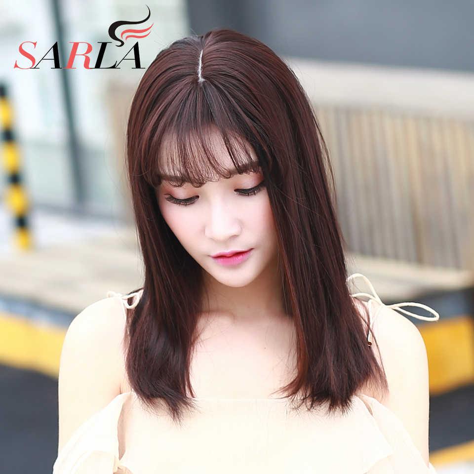 Заколка для волос зажим для парика Женская Сережка в челке Удлинительный парик из синтетического волокна Женские поддельные натуральные невидимые черный коричневый C8