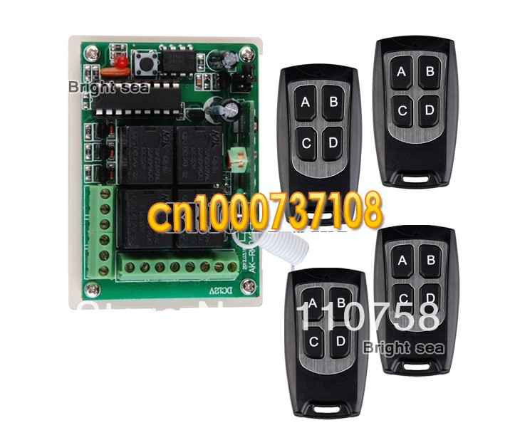 New DC 12V 10A 4CH Learning Code RF Wireless Remote Control Switch Systems Transmitter and receiver system prasanta kumar hota and anil kumar singh synthetic photoresponsive systems