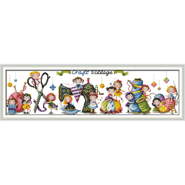 Amor Eterno de Navidad de pueblo algodón ecológico chino kits punto de cruz contado estampado 11 CT 14 CT de promoción de ventas
