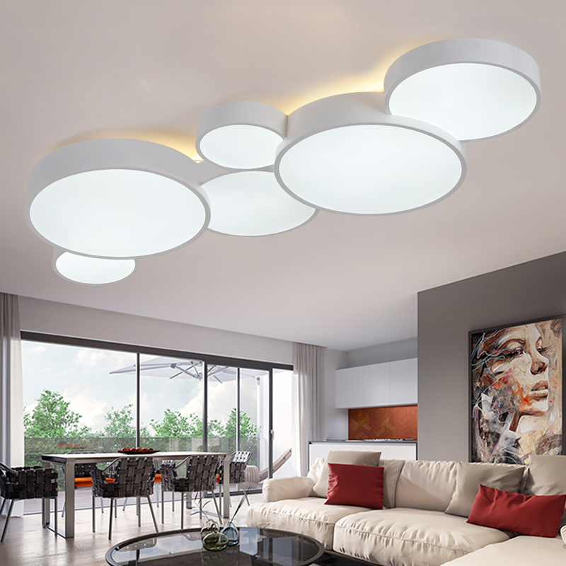 Modern Led Ceiling Light Dimmable Panel Lamp Lighting Fixture Living Room Bedroom Kitchen Surface Mount Flush Remote Control Back To Search Resultslights & Lighting