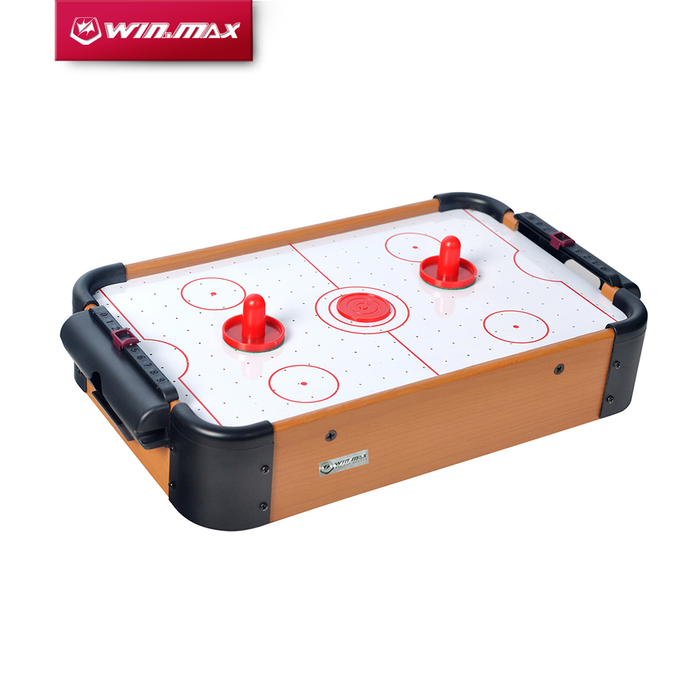 2019 Free Shipping Winmax Toy Mini Air Hockey Game Table With 2 Pushers And 1 Puck For Children Christmas Present 15 Inch