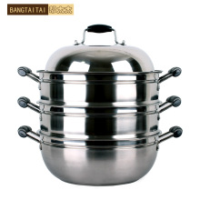Stainless steel steamer 34cm multi-layer Large double layer dual
