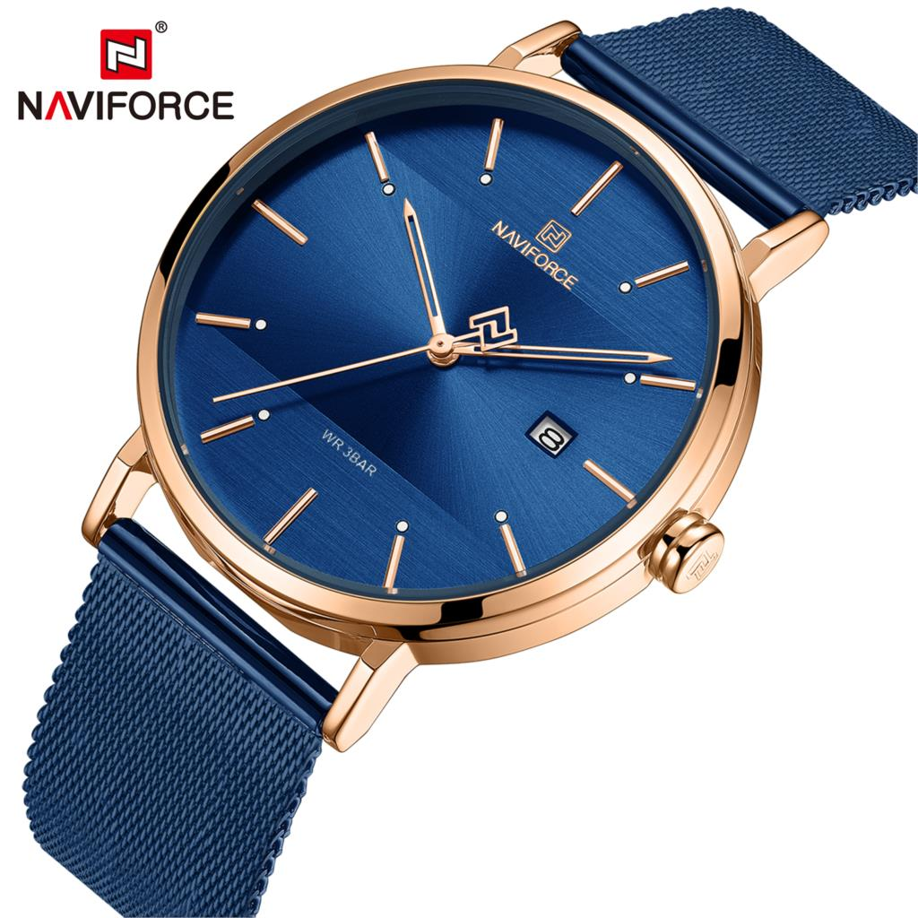 NAVIFORCE Women Watches Top Brand Luxury Stainless Steel Strap Wristwatch For Women Rose Clock Stylish Quartz Ladies Watch 2019