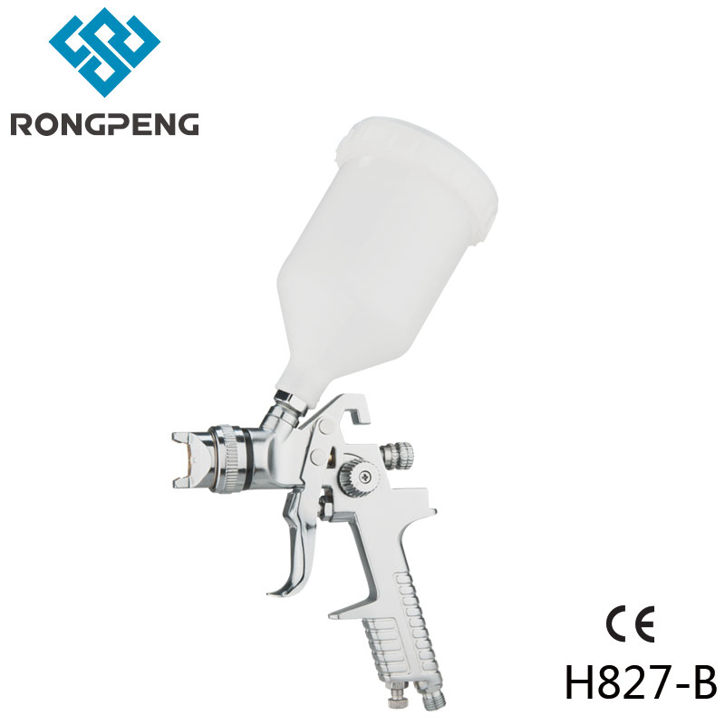 цена на Rongpeng HVLP Air Spray Gun H-827 Car Finish Coat Spraying Automotive Surface Coat 1.4mm High Cost Performance China Air Gun