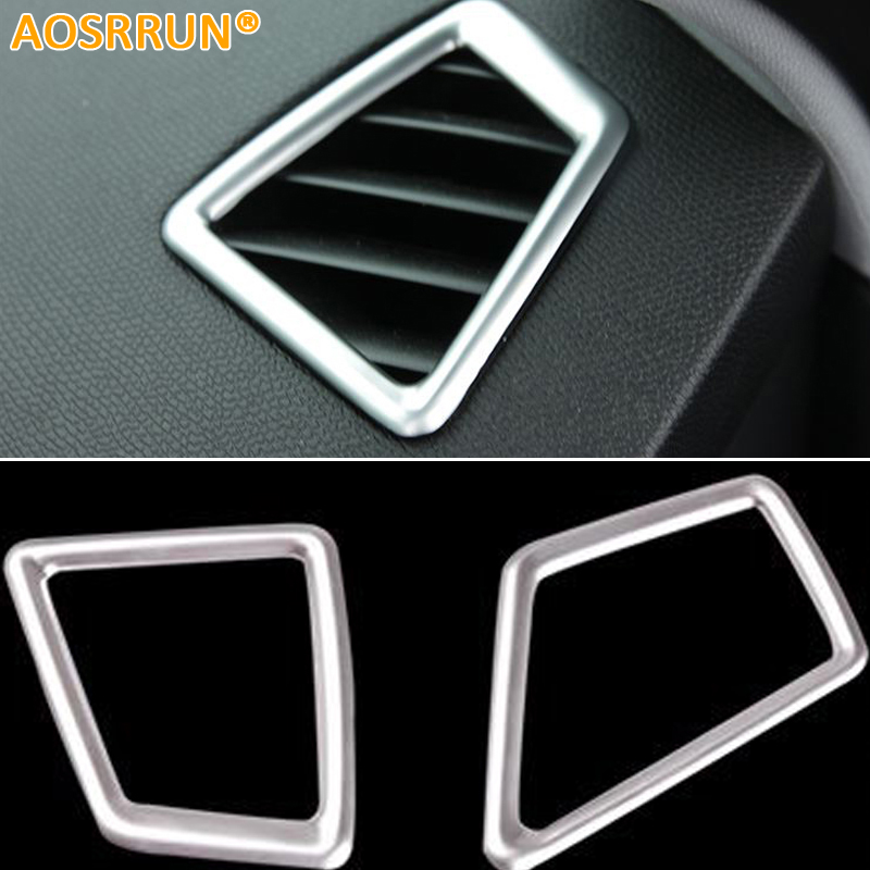 ABS Chrome Air-conditioning Outlet Cover Car Accessories For Peugeot 308 T9 SW Rear View 5door 2015 <font><b>2016</b></font> image