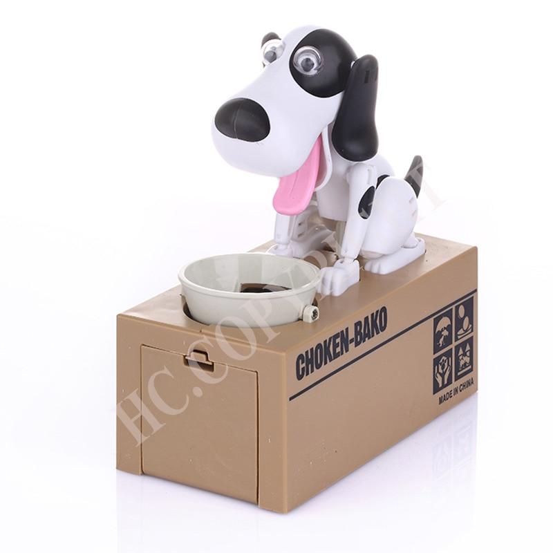 Kids Gift Cute White Black Brown Dogs Puppy Money Box Robot Robotic