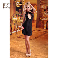 Leechee Sexy XL dress club suit Europe and the United States deep V open back sexy underwear nightclub MF010