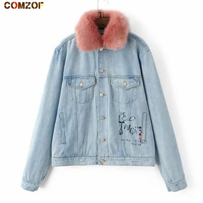 Popular Denim Fur Jacket-Buy Cheap Denim Fur Jacket lots from ...