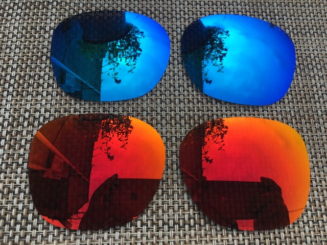 90d92d3939f 2 Pairs Fire   Ice Blue Polarized Replacement Lenses Lens for Garage Rock  Sunglasses