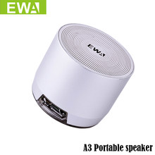 EWA A3 Mini Speakers 3D Stereo Music Surround Wireless Bluetooth Speakers Portable Bluetooth Sonud Bass Support TF Cards USB(China)
