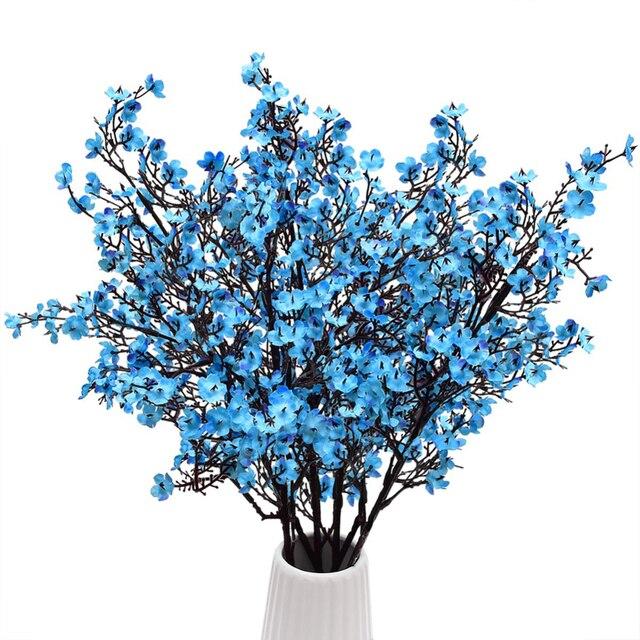 4 قطعة الزفاف حزب الديكور الاصطناعي Gypsophila زهرة محاكاة النباتات وهمية الزهور العروس باقة للمنزل حديقة ديكور