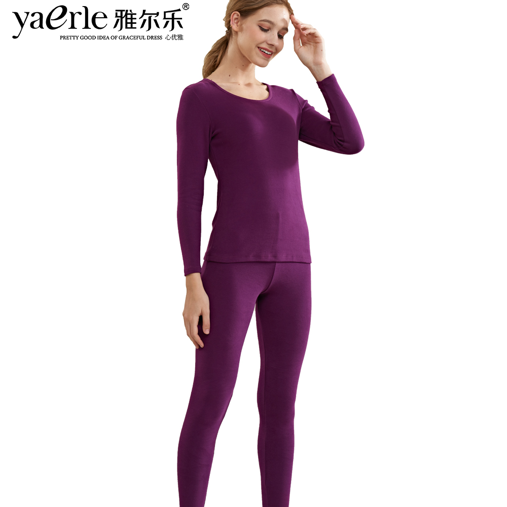 Women Thermal Underwear A Set Thick Suit Long Johns Top & Legging O neck Thicken Cotton Women Clothing Thermal Shirt Tmall Y3
