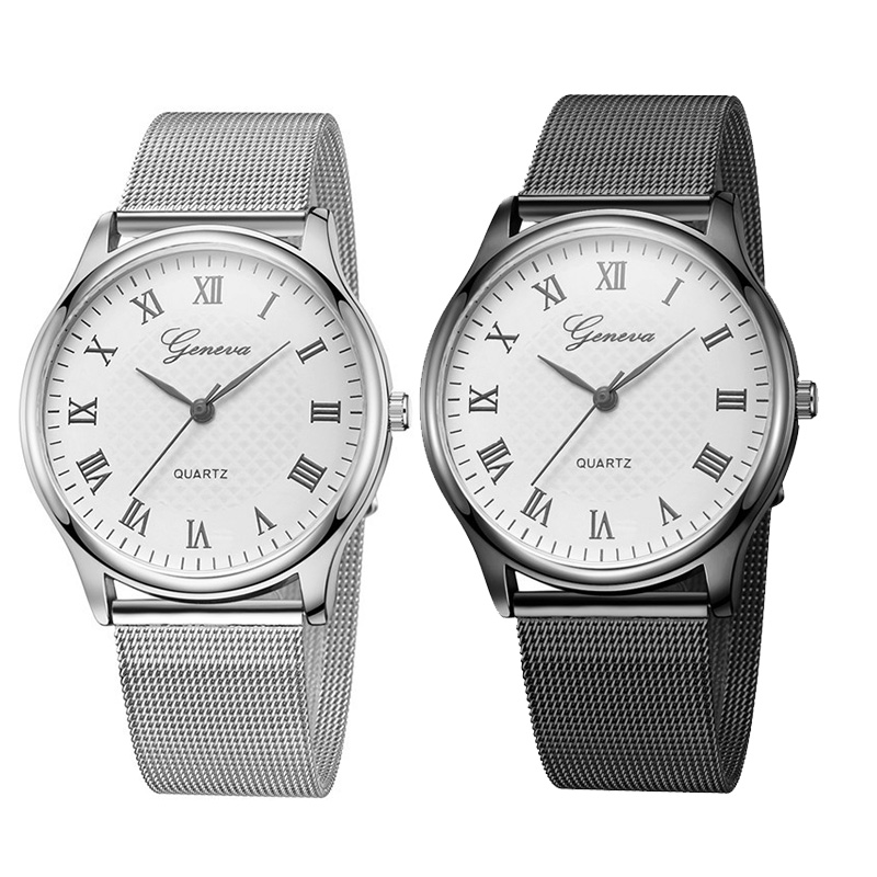 Casual Men Women Watch Geneva Couple Watches Fashion Luxury Stainless Steel Leather Analog Quartz Montre Femme Reloj Hombre Saat