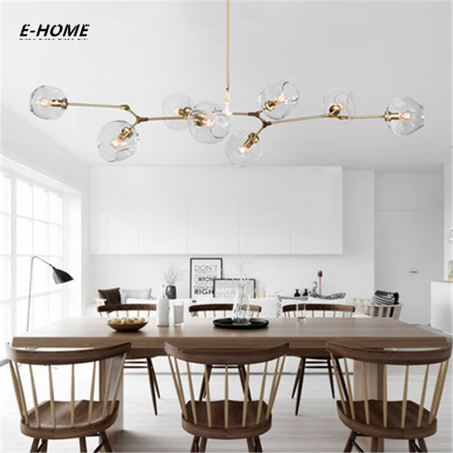 EHOME Modern Colorful Glass Pendant Light Nordic Dining Room Kitchen Light  Designer Hanging Lamps Living Room