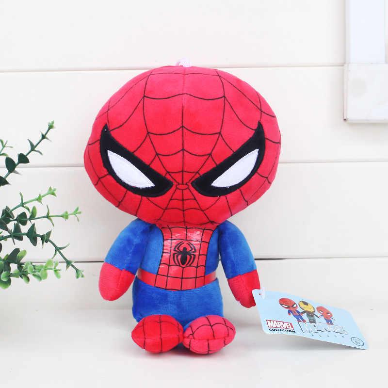 Filme Deadpool Spiderman dos desenhos animados Plush Doll Toy Dolls Figura Brinquedo para As Crianças Brinquedos de Presente de aniversário 20 CM
