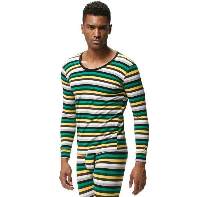 JOCKMAIL Brand Men Thermal Underwear Long Johns Sets 2pcs tops+pants Bottom Underwear cueca Gay Underwear leggings Underpants