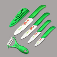 Findking Kitchen Chef Knife Set With Flower Vegetable Knife With White Blade 3''4''5''6'' inch +Peeler +Covers Kitchen Tools