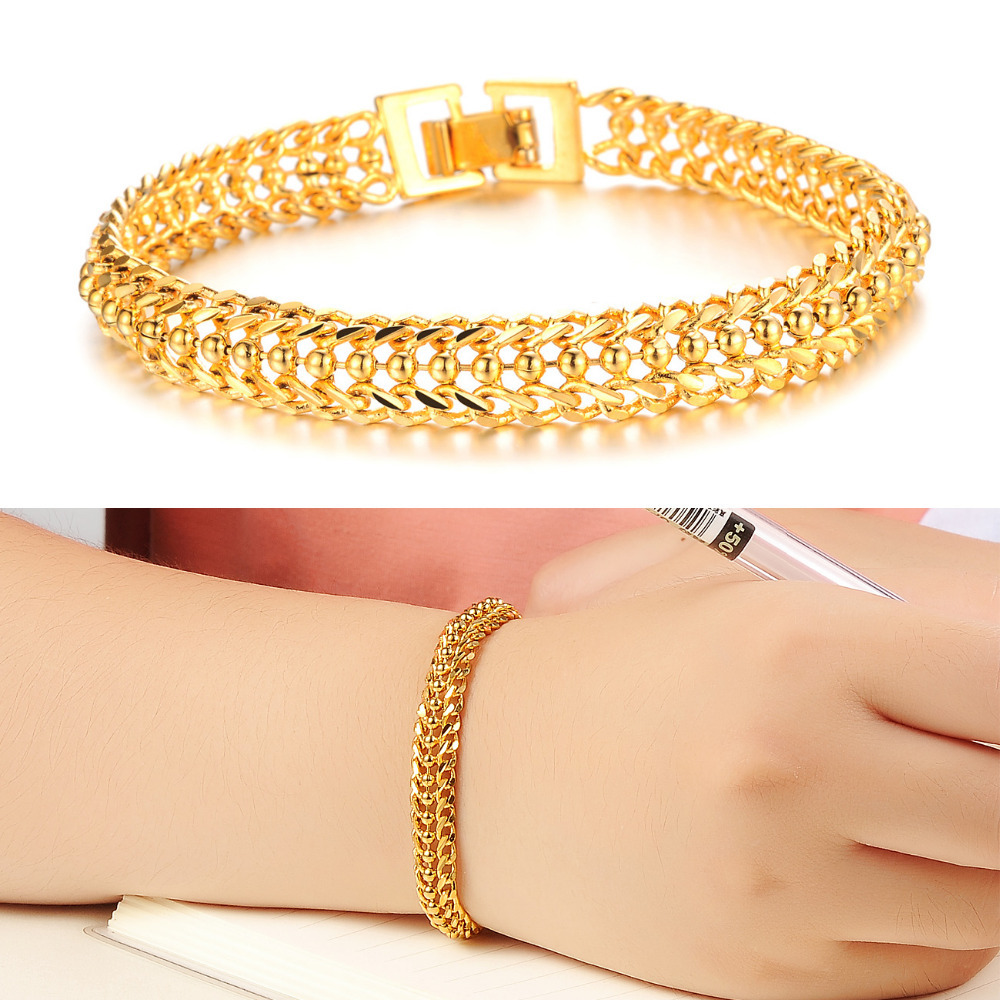 bracelet woman women gold real pin bangle brass yellow for heart plated filled