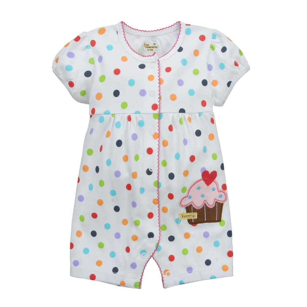 2018 Summer Baby Girl Clothes 100% Cotton Newborn Romper Polka Dot Jumper Baby Boy Clothing Shortall Infant Jumpsuit Bebe Roupas puseky 2017 infant romper baby boys girls jumpsuit newborn bebe clothing hooded toddler baby clothes cute panda romper costumes