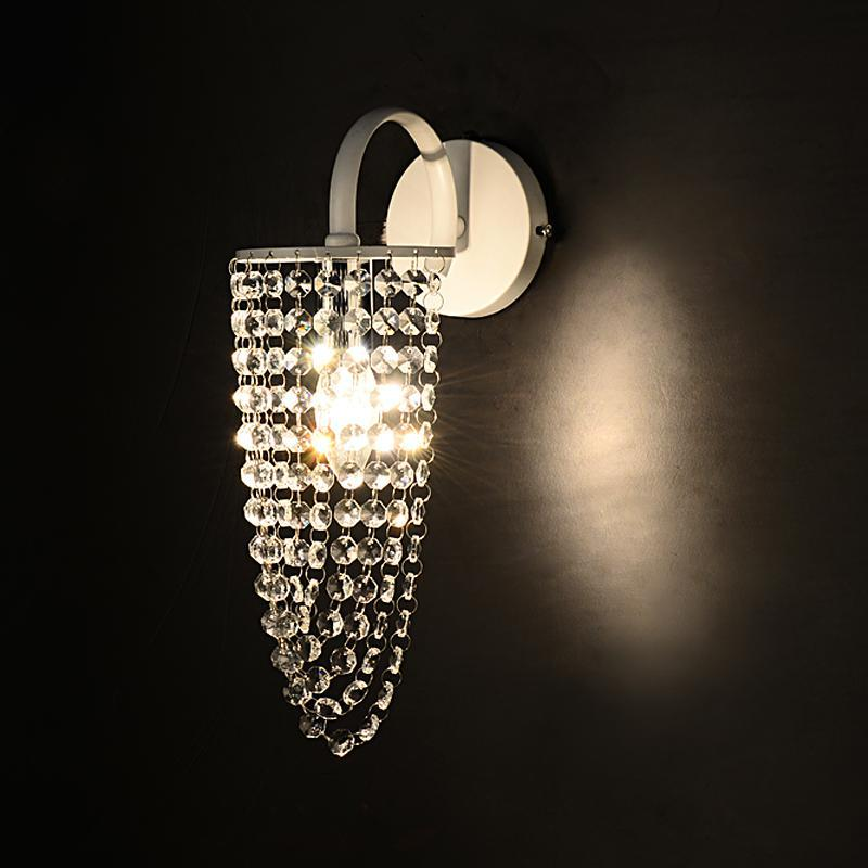K9 Crystal wall lamp lighting for hallway Mirror Led clear wall sconce bedroom Home wall fixtures bathroom makeup light abajur new modern dia 12cm creative crystal wall sconces round wall lamp fixtures lighting for hallway bathroom bedside lighting wl210