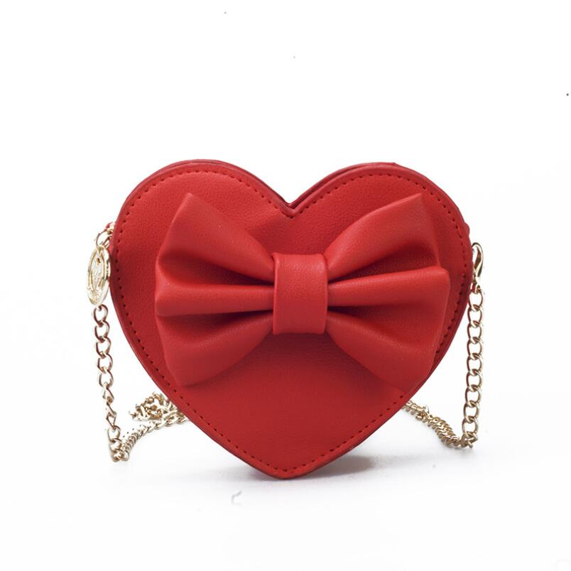2018 Cute Handbags For Teen Kids Mini-Hand bag Quality PU Leather Women bag Big Bow Chain Shoulder bag Travel bags Coin Purse