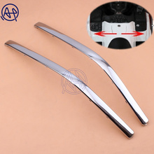 1pair Chrome Motorcycle Decoration Strips Parts Connecting Fairing Bow Shaped Strake For Honda GoldWing GL1800 2001-2011 GL1800 1 set new goldwing chrome fairing case for scoop trim case for honda 2001 2011 gl1800 01 11